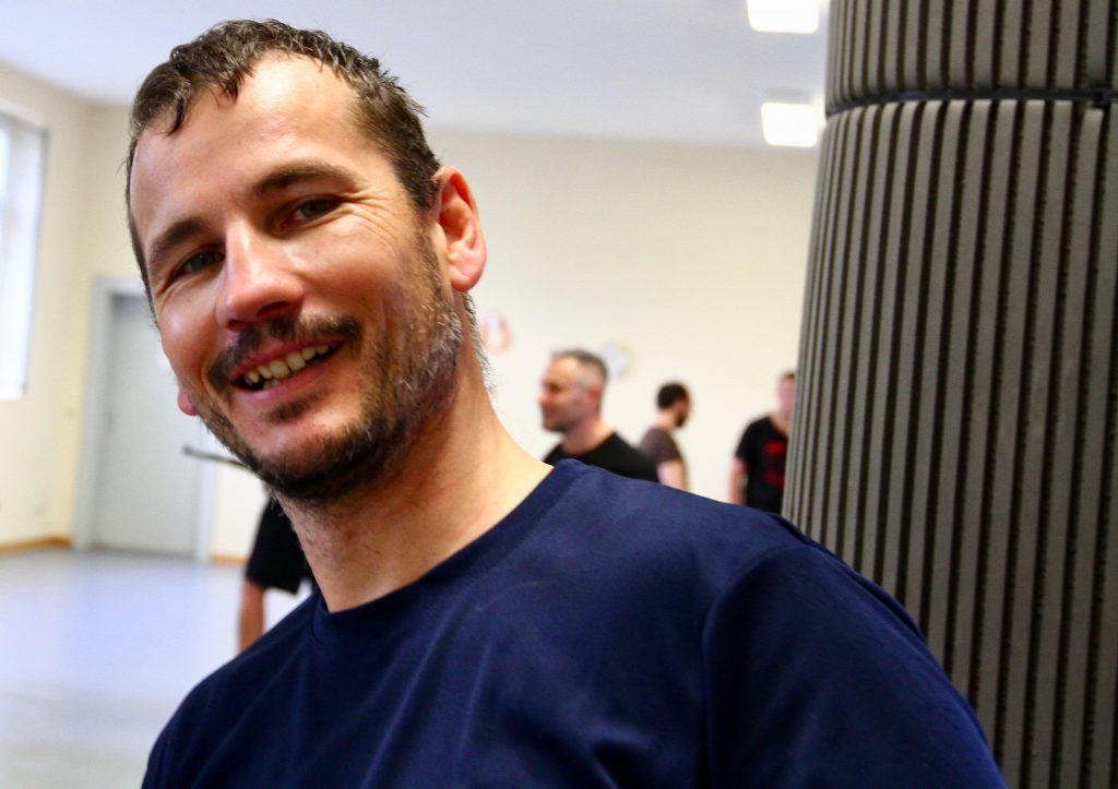 Lächelt immer: unser Trainer Micha.